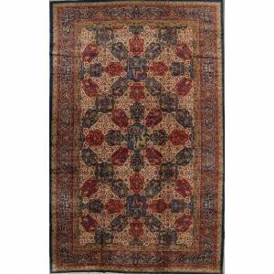 "Rug Source Antique Agra Taj-Mahal Oriental Hand Knotted Wool Floral Area Rug - 16'6"" x 12'0"" (16'6"" x 12'0"" - Red)"