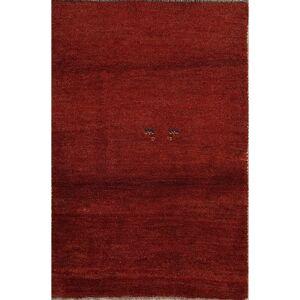 "Rug Source Gabbeh Modern Tribal Hand Made Wool Persian Area Rug - 4'6"" x 3'1"" (4'6"" x 3'1"" - Red)"
