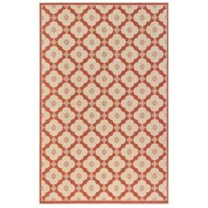 """Liora Manne Riviera Modern Tile Indoor/Outdoor Rug (Red 7'10"""" SQ)"""