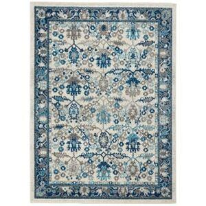 "Nourison Persian Vintage Floral Area Rug (5'3"" x 7'3"" - Ivory/Grey)"