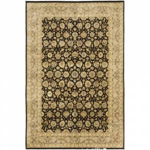 Overstock Traditional Oriental Serapi One-of-a-Kind Hand-Knotted Area Rug - 6 x 9 (6 x 9 - Black)