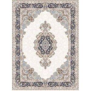 "LaDole Rugs Navy Blue Beige Cream Silver Traditional Light Weight Area Rug Living Room Hallway Patio Sizes 5x7, 8x10, 7X9 feet (6' x 9' - 6'6"" X 9'6"")"