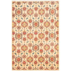 "Ecarpetgallery Hand-knotted Finest Gazni Ivory Wool Rug (Ivory - 6'7 x 9'9/6'7"" x 9'9"")"