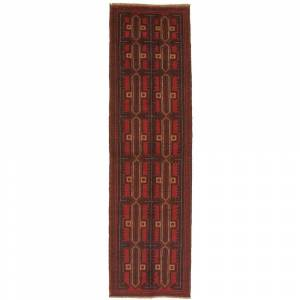 Ecarpetgallery Hand-knotted Baluch Red Wool Rug - 2'8 x 9'3 (Red - 2'8 x 9'3)