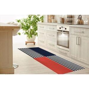 Kavka Designs DASH RED and BLUE Kitchen Mat by Kavka Designs (2.6' x 8' Runner)