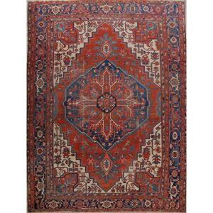 """Overstock Pre-1900 Antique Vegetable Dye Heriz Serapi Persian Area Rug Handmade - 12'5"""" x 15'6"""" (12'5"""" x 15'6"""" - Rust)"""