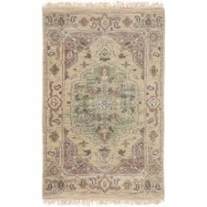 Overstock Hand-Knotted Demi Traditional New Zealand Wool Area Rug - 2' x 3' (2' x 3' - Khaki)
