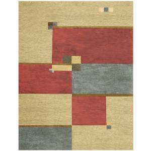 Grand Bazaar Tufted 100-percent Wool Pile Tangent Rug in Multi - 5' x 8' (Multi - 5' x 8')
