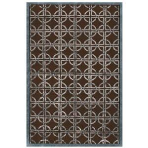 "Grand Bazaar Zaria Area Rug (Chocolate/Steel 3'-6"" x 5'-6"")"