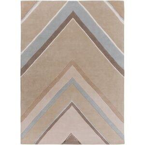 Overstock Hand-Tufted Wright Geometric Indoor Area Rug - 8' x 11' (8' x 11' - Beige)