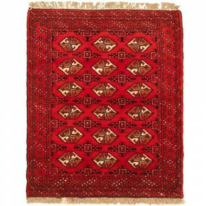 """Ecarpetgallery Hand-knotted Turkman Red Wool Rug (Red - 3'7 x 4'6/3'7"""" x 4'6"""")"""