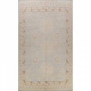 "Overstock Geometric Khotan Oriental Vegetable Dye Wool Area Rug Handmade - 11'7"" x 14'9"" (11'7"" x 14'9"" - Grey)"