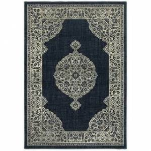 "Style Haven Liliana Majestic Medallion Traditional Area Rug (Navy/Grey 6'7"" x 9'6"")"