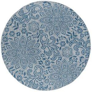 Porch & Den Unger Floral Area Rug (Cream - 5'3'' Round)