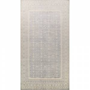 "Overstock Grey Geometric Vegetable Dye Khotan Oriental Area Rug Wool Handmade - 12'4"" x 18'2"" (12'4"" x 18'2"" - Grey)"