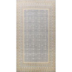 "Overstock Vegetable Dye Oriental Geometric Khotan Large Area Rug Wool Handmade - 12'2"" x 17'11"" (12'2"" x 17'11"" - Grey)"