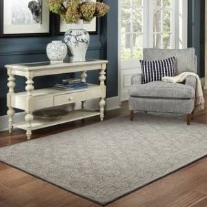 Style Haven Maison Soothing Traditions Loop Pile Hand-made Wool Pile Area Rug (Grey/Stone 5' x 8')
