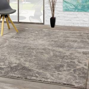 "Overstock Easterly Grey Cream Serene Texture Rug (5'3"" x 7'7"")"