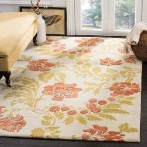 Safavieh Handmade Capri Wava Modern Wool Rug (3' x 5' - Beige/Rust)