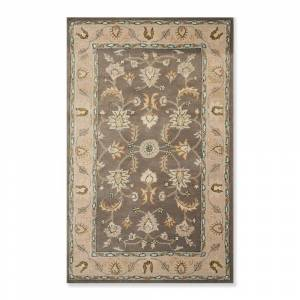 Overstock Persian Oriental Area Rug Hand Tufted 100% Wool Traditional  (5'x8') - 5' x 8' (Beige/Gray - 5' x 8')