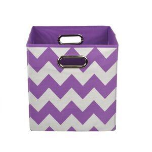 Modern Littles Color Pop Purple Chevron Folding Storage Bin (Purple Chevron)