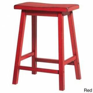 Acme Gaucho Antique Red Counter Height Stool (Set of 2) (Antique Red)