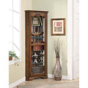 Coaster Company Deep Brown 5-shelf Corner Curio Cabinet (Brown)