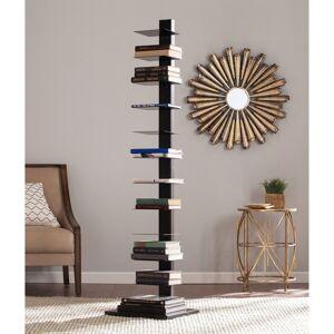 Porch & Den Denargo Black Spine Tower Shelf (Jet Black)