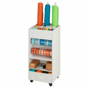 Honey Can Do Honey-Can-Do Storage Cart w Fabric Drawer (white)