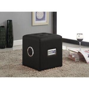 Acme Laila Sound Lounge Bluetooth Speaker Ottoman (Black)