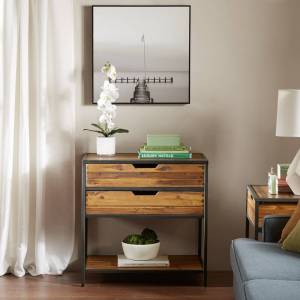 Madison Park Ryker Natural/Graphite Accent Chest (Natural/Graphite)