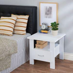 """Acme Furniture Delano White Wood 1-drawer Nightstand (Nightstand, White,22"""" x 22"""" x 20""""H)"""