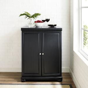 Crosley Furniture Alexandria Black Finish Expandable Bar Cabinet - N/A (Black)