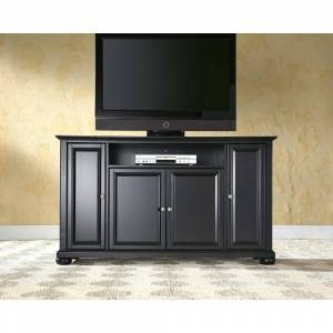 "Crosley Furniture Alexandria Black Finish Wood 60-inch TV Stand (Alexandria 60"" TV Stand)"