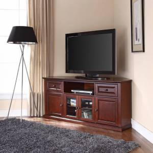 "Crosley Furniture Vintage Mahogany 60-inch Corner TV Stand (60"" Corner TV Stand)"