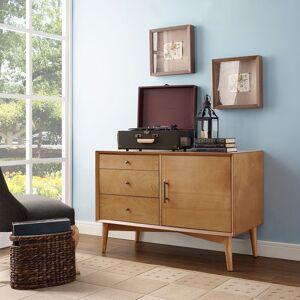 Crosley Furniture Landon Media Console in Acorn (Oak)