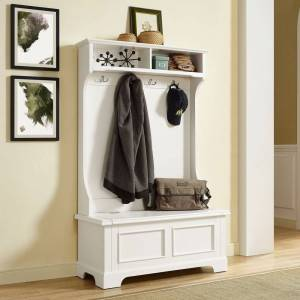 Crosley Furniture Campbell Classic White Wooden Hall Tree (white)