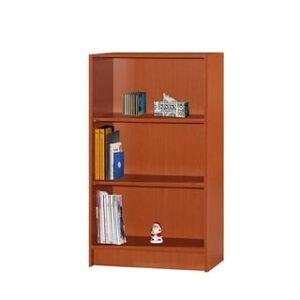 Hodedah 3-Shelf Bookcase (Cherry)