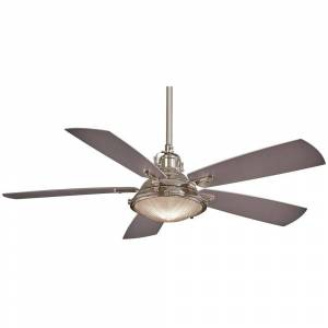 """MinkaAire Groton 56"""" Ceiling Fan in Polished Nickel finish w/ Silver blades by Minka Aire (Polished Nickel)"""