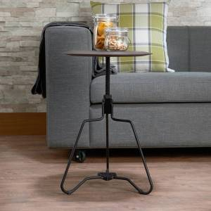ACME Sada End Table in Espresso with Adjustable Height