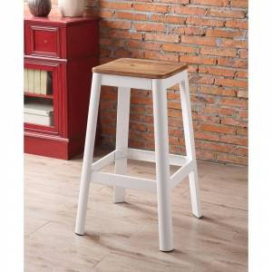 ACME Jacotte Bar Stool in Natural and White