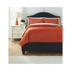 Signature Design by Ashley Raleda Orange 3-piece Coverlet Set (Queen)