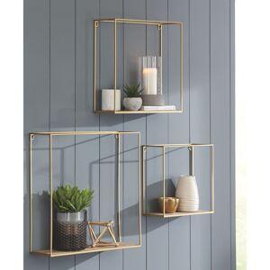 Signature Design by Ashley Efharis Gold 3-piece Wall Shelf Set (Gold)