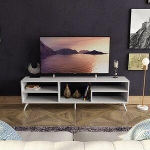 "Decorotika Vamos TV Stand & Console for TVs up to 68"" with Shelves - 18'' H x 59'' W x 12'' D (18'' H x 59'' W x 12'' D - White)"