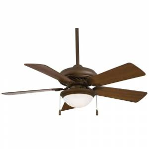 "Minka Aire Supra« 44"" Ceiling Fan in Oil Rubbed Bronze finish w/ Medium Maple blades by Minka Aire (Oil Rubbed Bronze)"