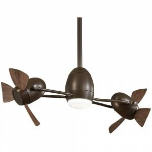 Minka Aire Cage Free Gyro™ Led Ceiling Fan In Oil Rubbed Bronze Finish W/Medium Maple Blades (Oil Rubbed Bronze)