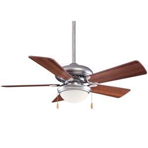 "Minka Aire Supra« 44"" Ceiling Fan in Brushed Steel W/ Dark Walnut finish w/ Dark Walnut blades by Minka Aire (Brushed Steel W/ Dark Walnut)"