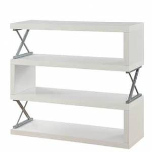 Furniture of America Loop Contemporary Metal 4-tier Bookcase (White)