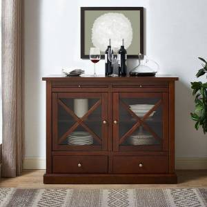 Crosley Furniture Jackson Accent Cabinet in Mahogany