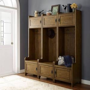 Crosley Furniture Fremont 3 Pc Entryway Kit - Three Towers In Coffee